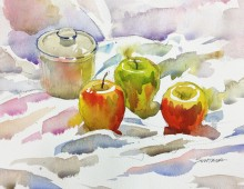 Still Life with Sugar Bowl and Apples