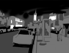 Night Scene Value Study