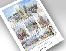 """13x19 print """"Sketches of Cleveland III"""""""
