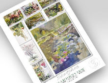 Unframed print of sketches of Gardenview Horticultural Park