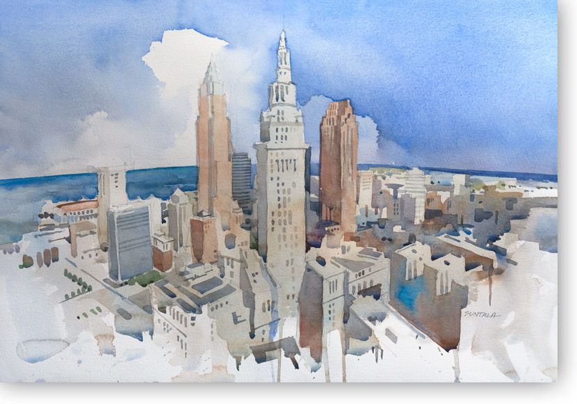 Cleveland Skyline Print signed in pencil