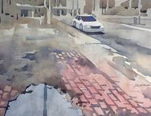 Thumbnail of Watercolor of Canal Rd, Cleveland Flats